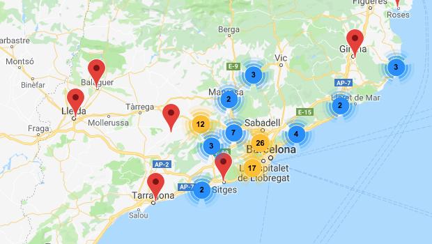 Mapa Abpaisatgistes