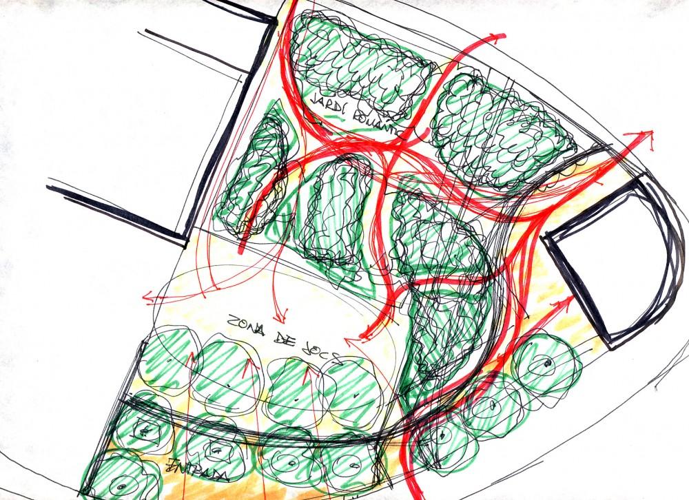 Avantprojecte de zona verda en un antic jard� particular, a ...